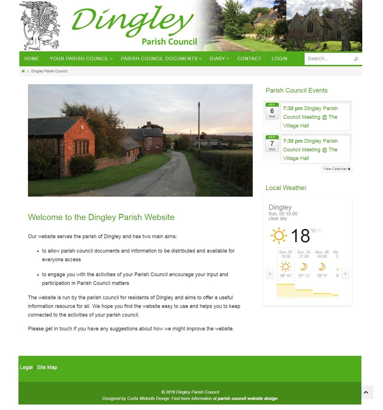 parish council website designer