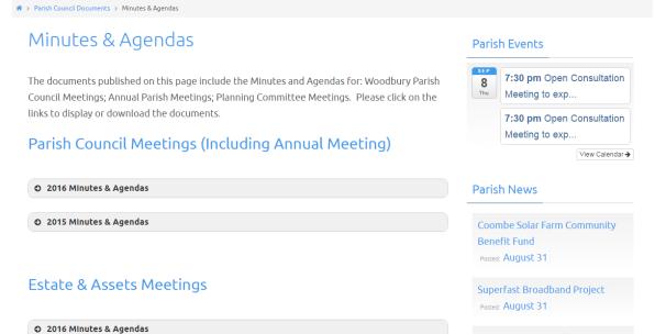create a parish council website