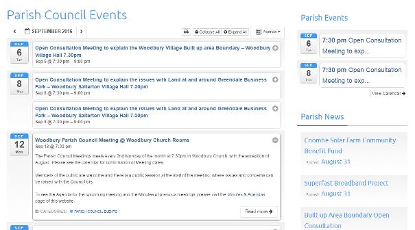 Websites for parish council